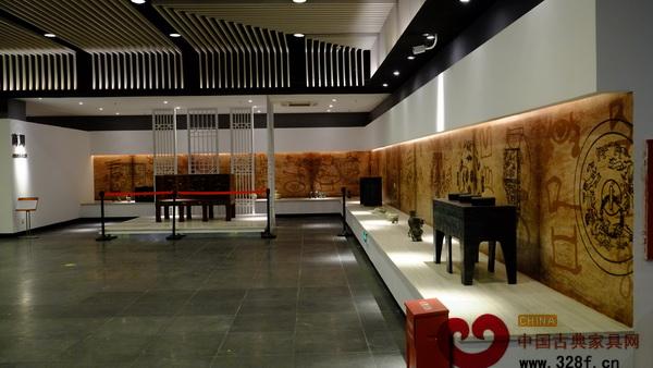 深圳红木家具博物馆内商周家具展示