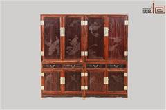 波记家具 老挝大红酸枝衣柜(学名交趾黄檀) 明清古典家具 高端红木家具 卧室套房顶箱柜系列 健康环保