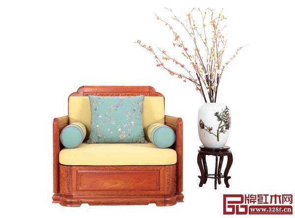卢家艺林《东方明韵》单人位沙发