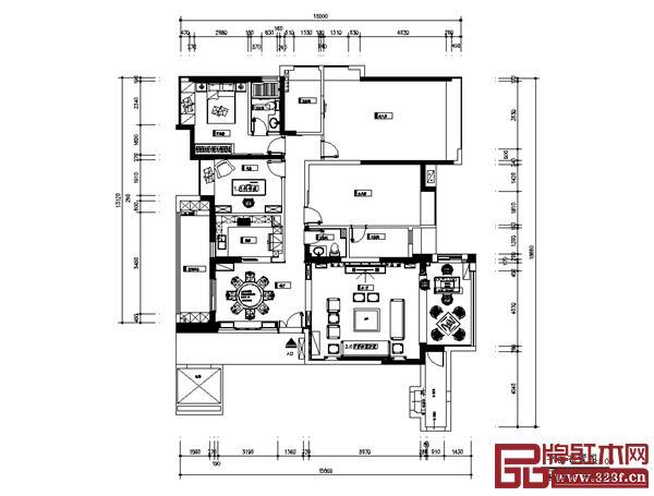 红木整装本文案例设计图纸(雅仕轩)