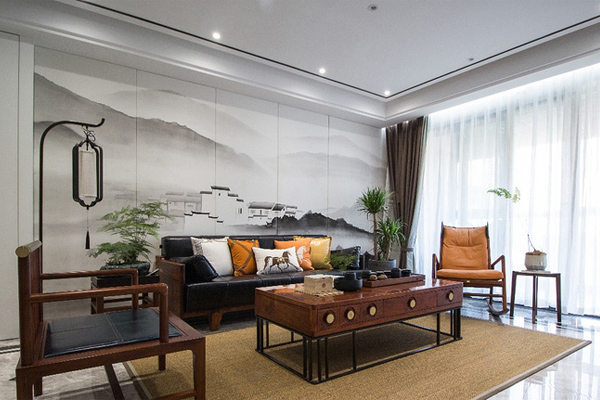 120平现代新中式 简单优雅空间