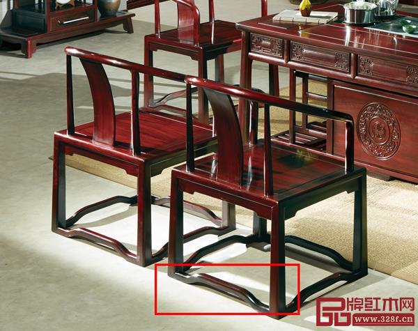 水雨轩《宇轩茶台》椅子腿脚的罗锅枨弯曲处理