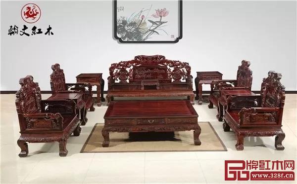 翰文红木——《飞天沙发11件套》