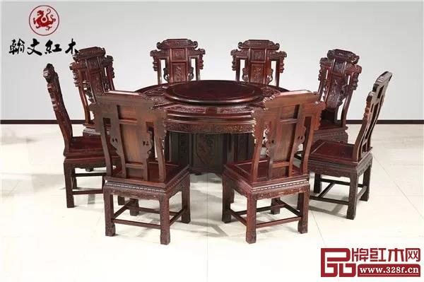 翰文红木——《1.38米圆桌》