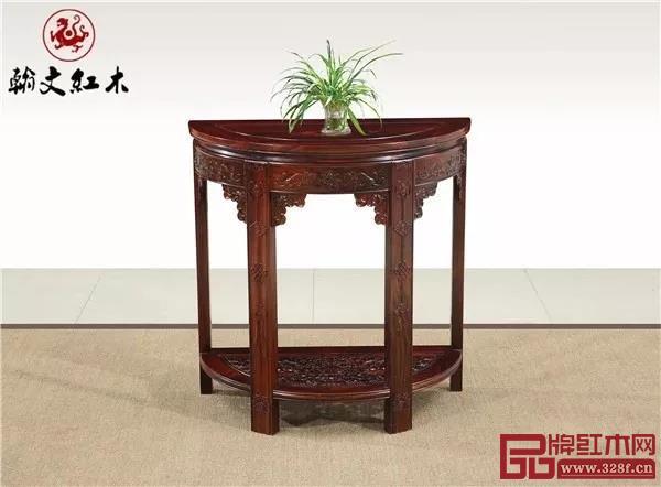翰文红木——《半圆花架》