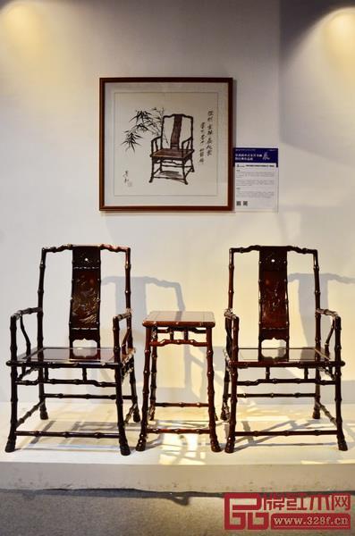 泰和园《当代君子竹节椅》亮相景初新中式家具书画展暨经典作品展