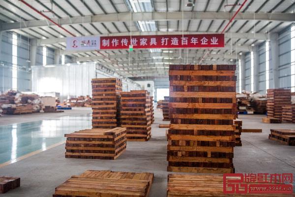 国寿红木湖北观光工厂局部实景