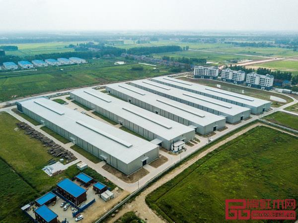国寿红木湖北观光工厂鸟瞰图