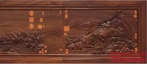 红木版《富春山居图》