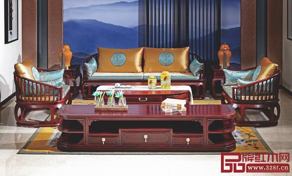 中山市今典居家具有限公司 名称:《明风鼓舞沙发》