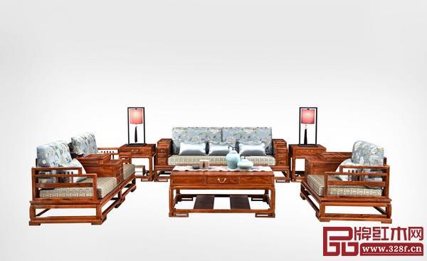 中山市王木匠中式红木家具有限公司 名称:《锦绣江南沙发》