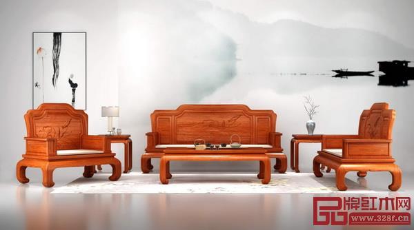 中山市百富汇红木家具有限公司 名称:《明月沙发》