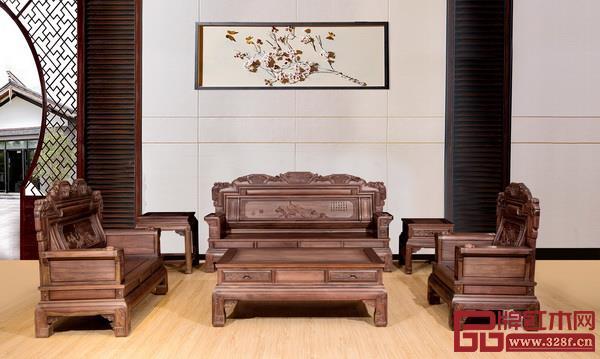 中山市御华轩红木家具有限公司 名称:《兰亭序3号沙发》