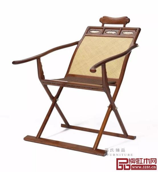 Lot274 黄花梨躺椅/区胜春 110×65×100cm RMB300,00-500,000