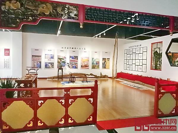 香港美联红木临沂艺术馆红木榫卯文化区