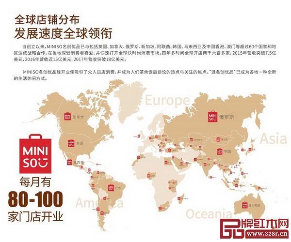名创优品进驻近60个国家、拥有3000家门店、年营收120亿