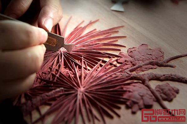 红木手工雕刻可以做到巧夺天工
