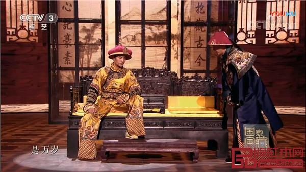 《国家宝藏》场景再现中使用了红木家具