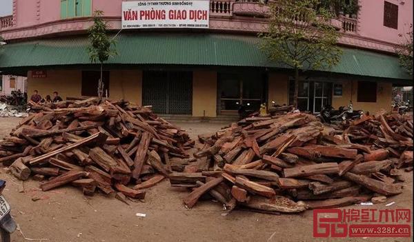 进入越南的非法交趾黄檀