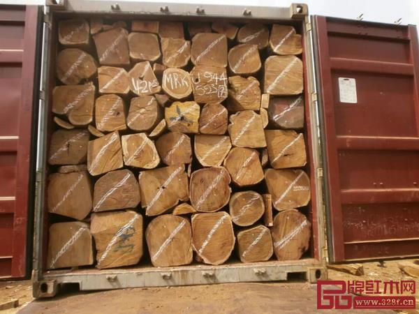 尼日利亚出口的刺猬紫檀锯枋