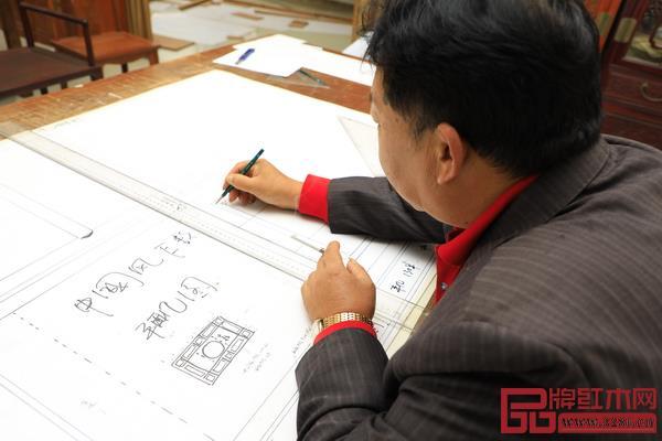 明清居红木董事长金彪云亲手设计新中式中国风系列
