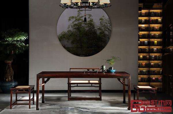 志成红木新中式典范之作《耕梨·七碗茶台》