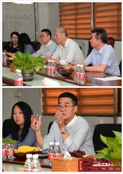 刘金良副理事长、王克会长等与森木家具相关人员进行座谈