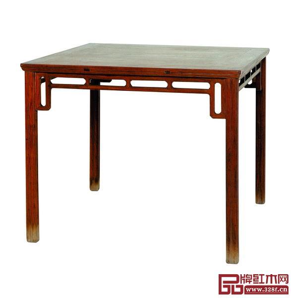 图2_黄花梨攒牙板方桌