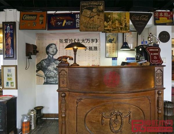 老上海茶館里的帳臺