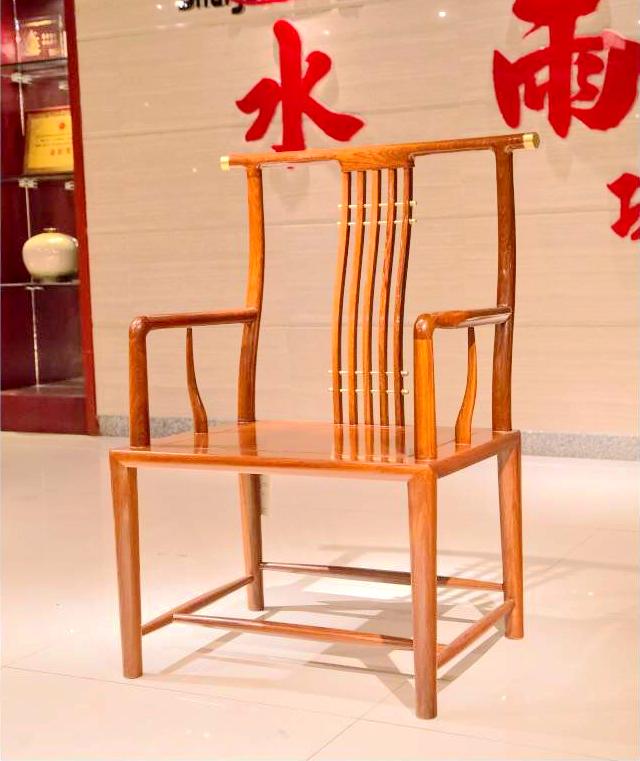 水雨轩红木 非洲黄檀《景轩茶台》主椅