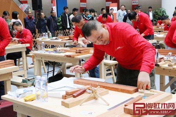 2018年中国技能大赛——全国家具制作职业技能竞赛总决赛现场