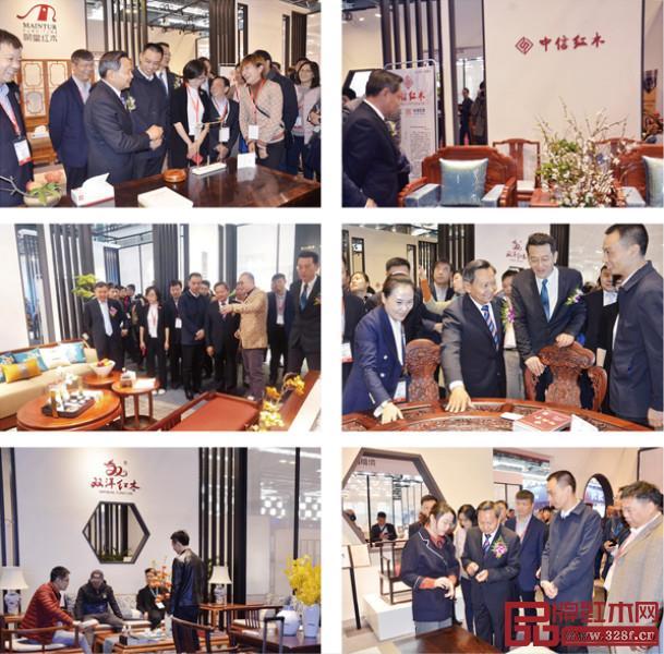 """东阳木雕红木家具企业亮相上海红木展,向大众传递东方雅致之美的同时,展现""""浙江制造""""实力"""