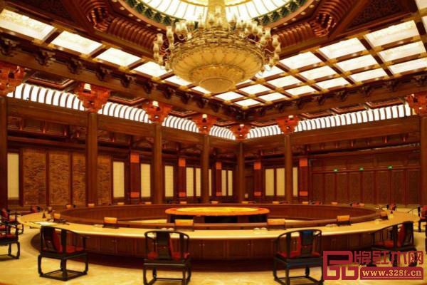 红木家具出现在各大国际外交场合上