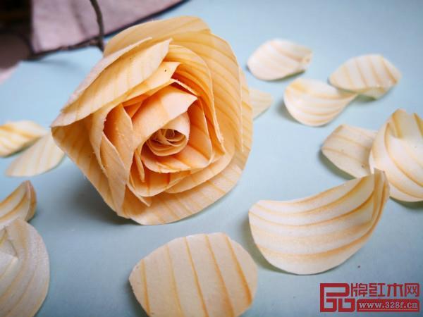木作小件玫瑰花