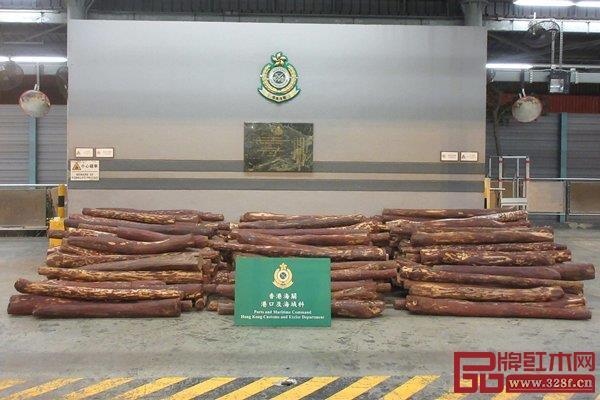 香港海关检获木材
