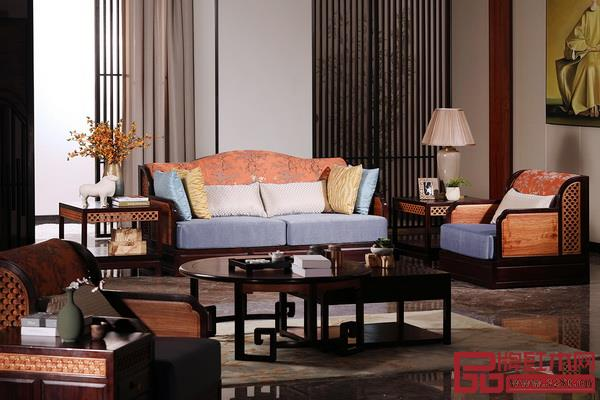 东莞市鸿普轩家具有限公司(国寿红木) 品牌名称:墨荷