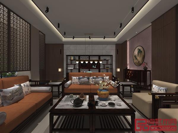 卓阅打造的新中式家居场景二