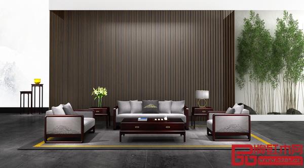 """老周家居——现代中式""""禅悦""""系列沙发"""
