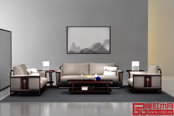 """老周家居——现代中式""""悟本""""系列沙发"""