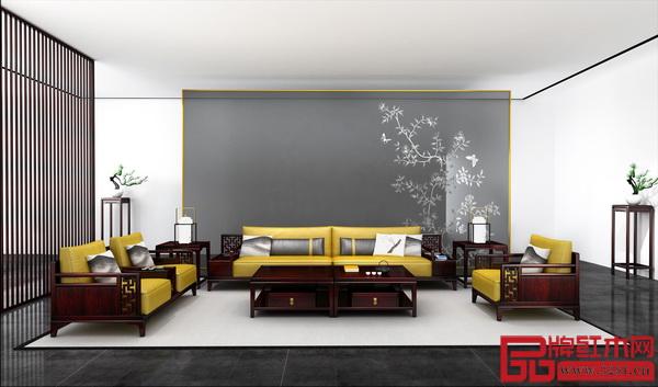 """老周家居——现代中式""""灵韵""""系列沙发"""