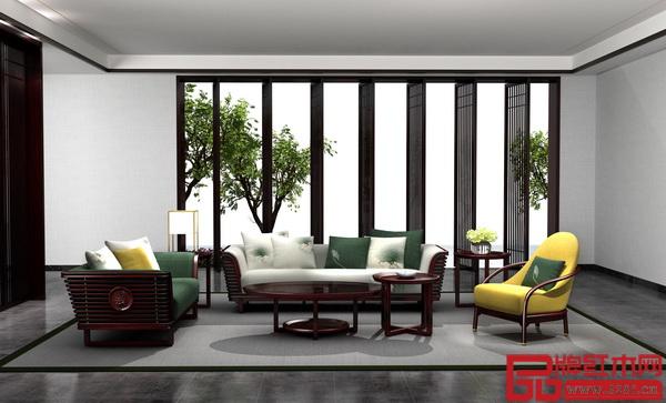 """老周家居——现代中式""""祥荷""""系列沙发"""