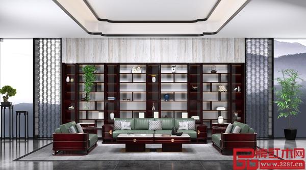 """老周家居——现代中式""""大容""""系列沙发"""