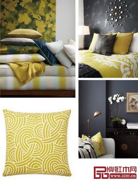 靠垫是最经济又效果最显著的换装单品,选用嫩黄色的靠垫打造靓丽一角