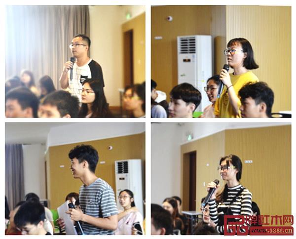学生们回答王周老师的互动话题