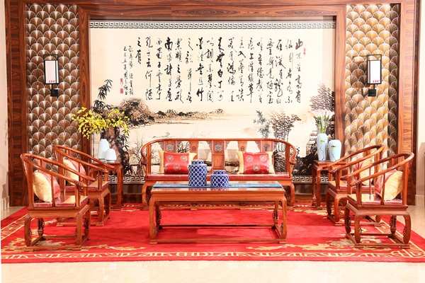 新古典家具——富宝轩红木独板《皇宫椅沙发》