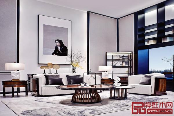戴为尤品系列采用了黑白配色,空间布局上错落有致,优雅大方