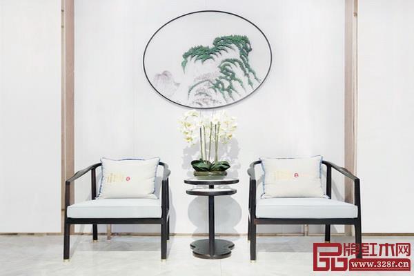 雅晟亚博体育下载苹果·檀一在家居空间中通过留白设计独具意韵