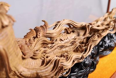 檀香木雕《人生富贵》