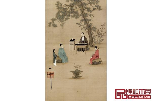 宋赵佶《听琴图》 故宫博物院藏