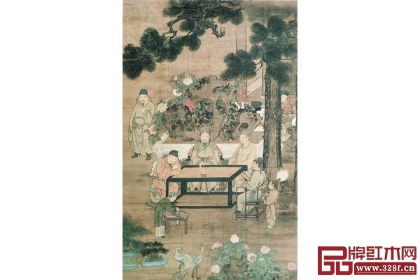 《明人十八学士图(琴)》台北故宫博物院藏